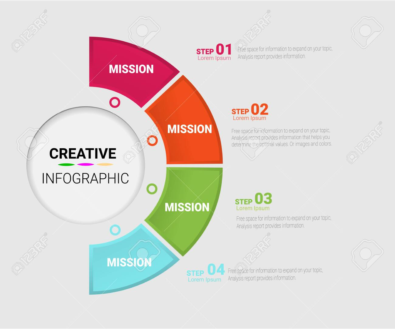 hight resolution of template for cycle diagram graph presentation and round chart business concept with 4