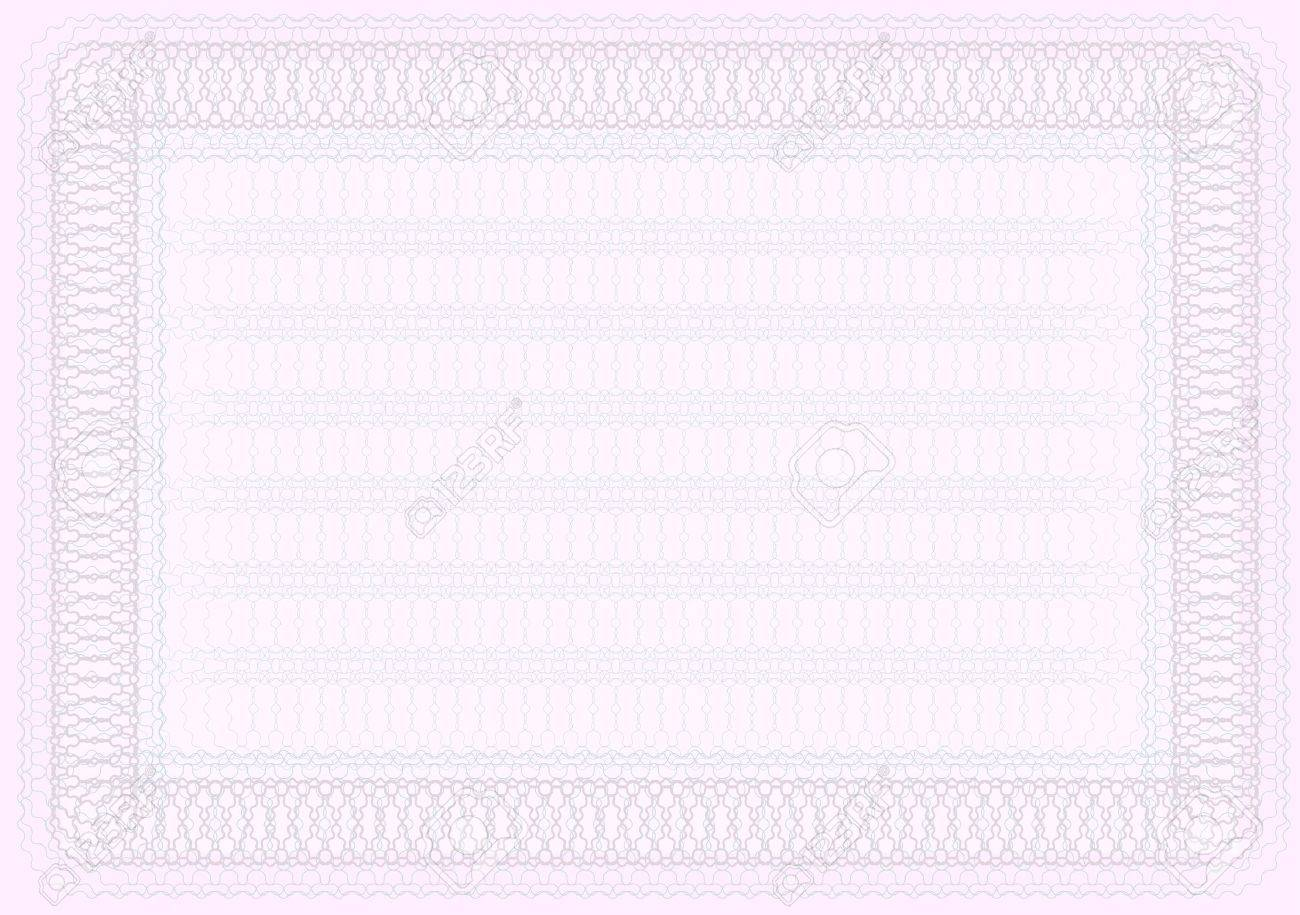 Blank Certificate Template In Shades Of Pink Royalty Free Cliparts ...