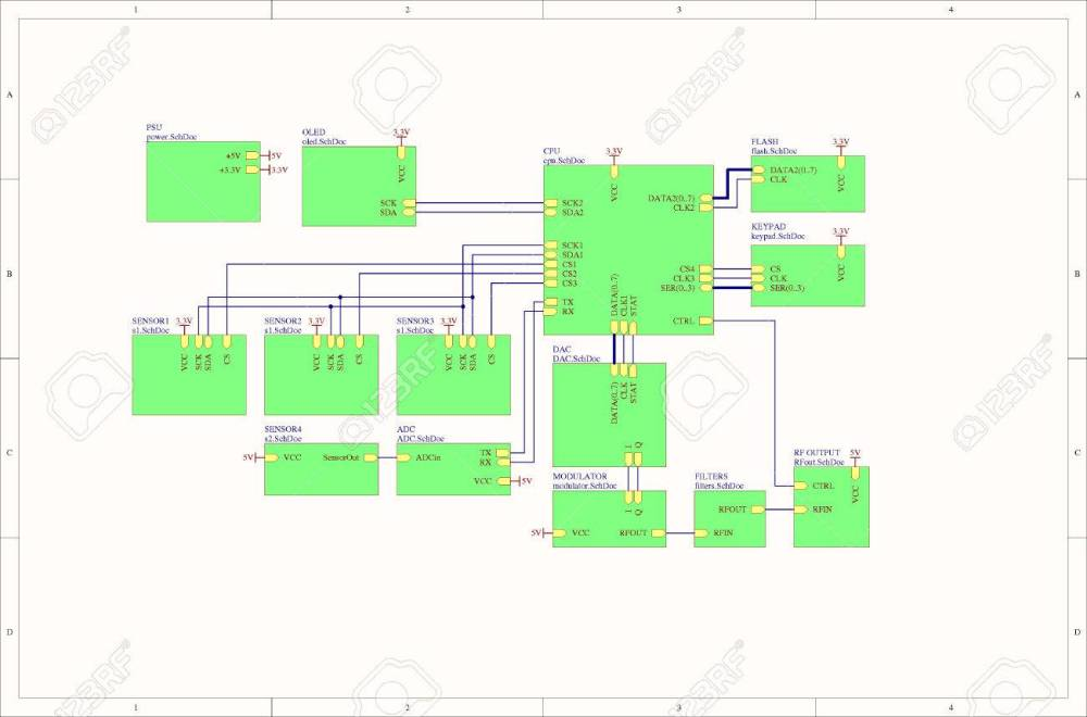 medium resolution of real electronic embedded system concept block diagram stock photo 52671445
