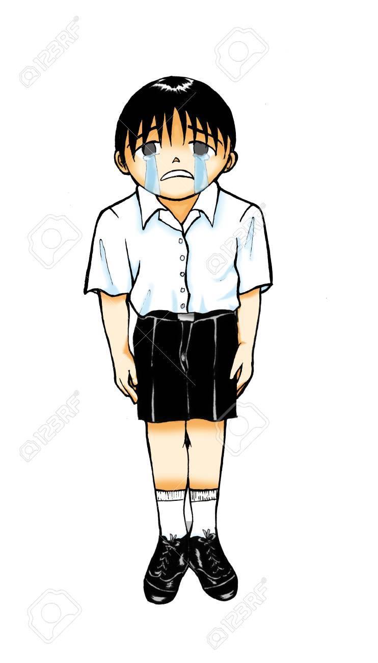 Images Rain Boy Cartoons Sad Anime Www Galleryneed Com