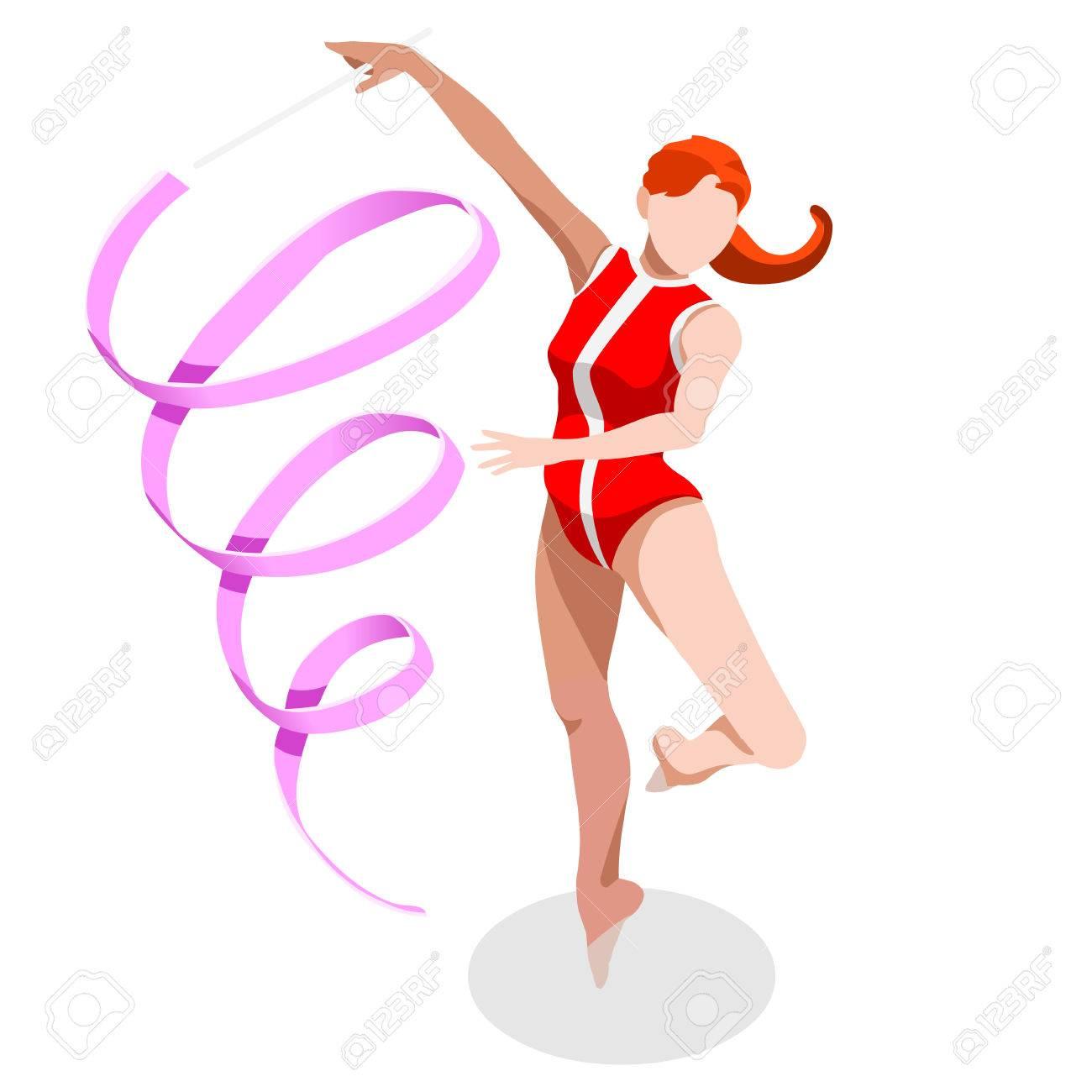 rhythmic gymnastics ribbon summer