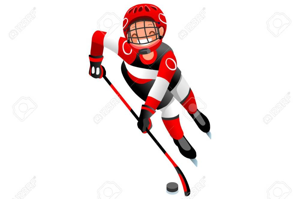 medium resolution of ice hockey vector cartoon clipart winter sports background with hockey athlete playing winter olympics competition