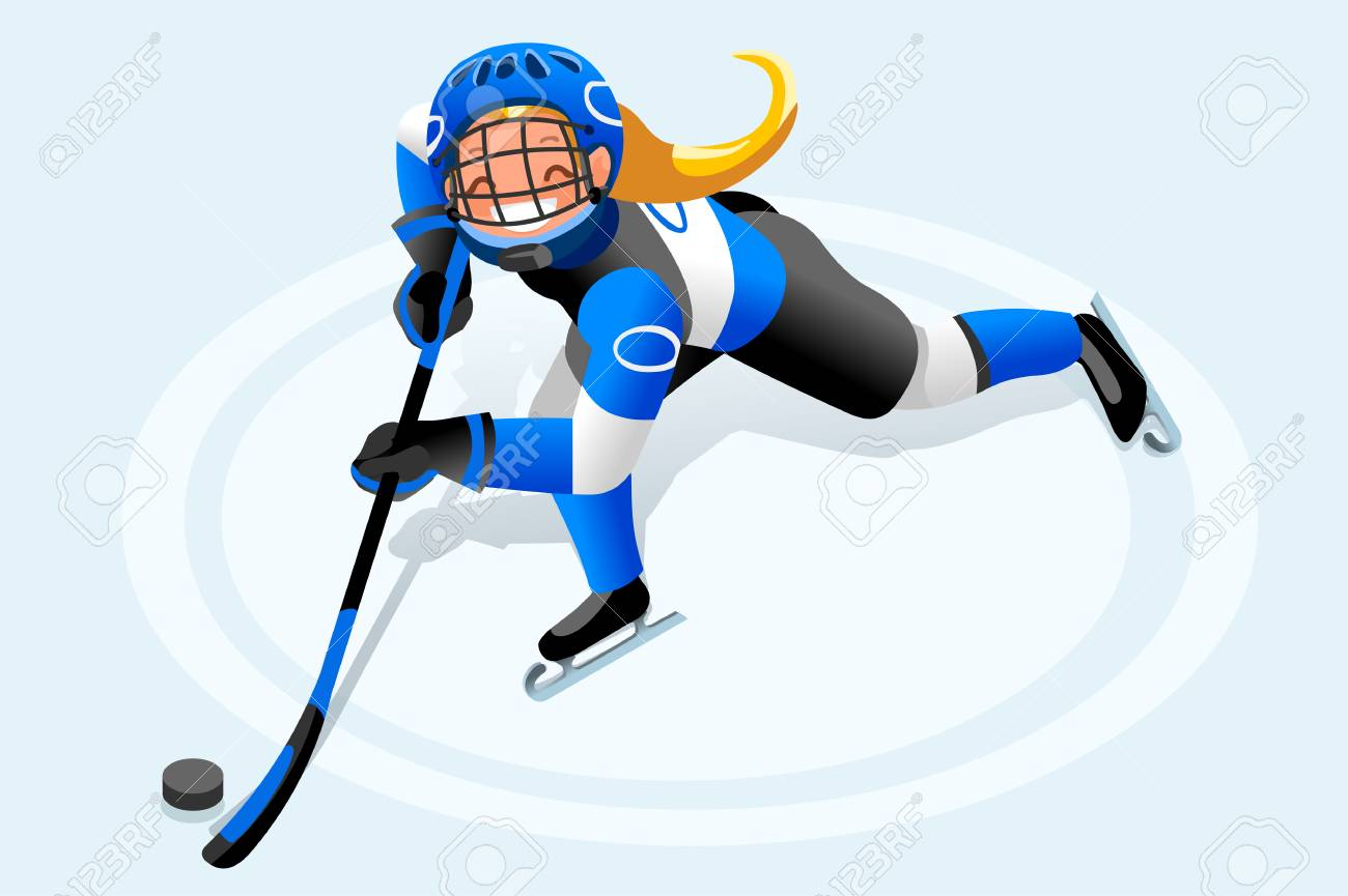 hight resolution of ice hockey vector cartoon clipart winter sports background with hockey athlete playing winter olympics competition