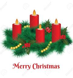 advent wreath with burning candles merry christmas stock vector 91755494 [ 1300 x 1300 Pixel ]