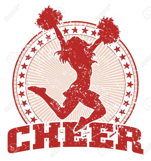 small resolution of cheer design illustration of a cheer design in a vintage style with a cheerleader silhouette