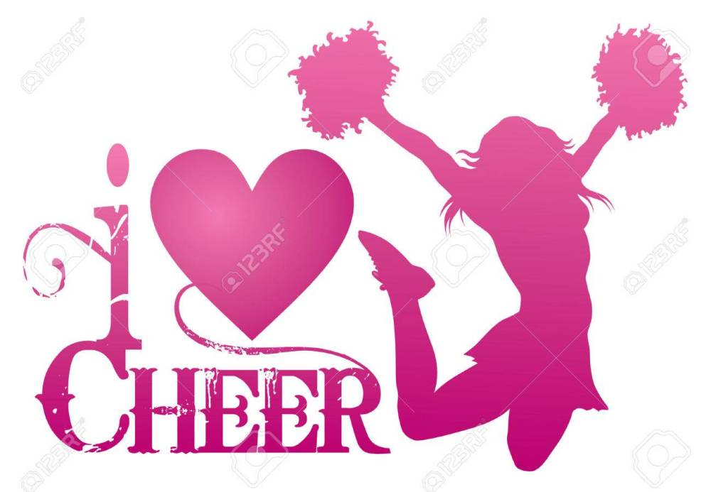 medium resolution of i love cheer with jumping cheerleader is an illustration of a cheer design for cheerleaders