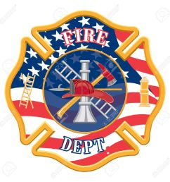 fire department cross is an illustration of a fire department or firefighter cross with the firefighters [ 1300 x 1300 Pixel ]