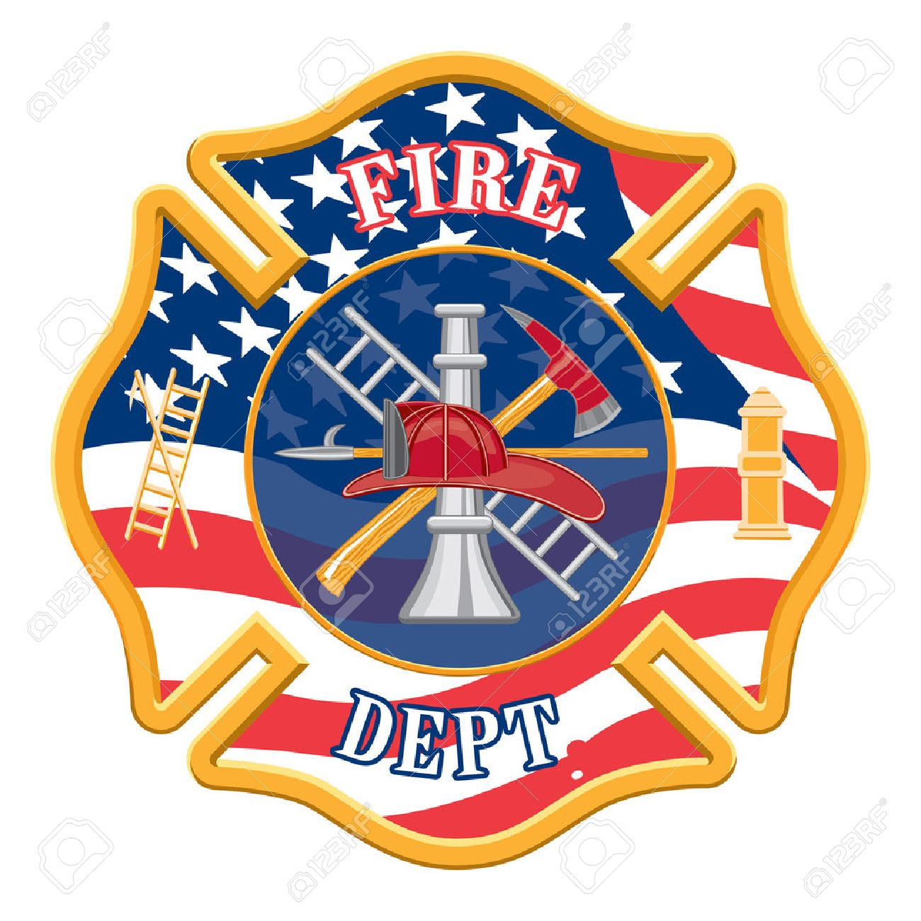 hight resolution of fire department cross is an illustration of a fire department or firefighter cross with the firefighters
