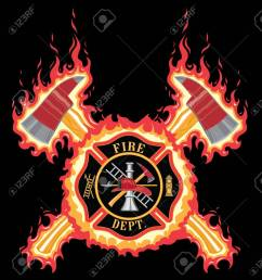 firefighter cross with axes and flames is an illustration of a fire department or firefighter cross [ 1192 x 1300 Pixel ]