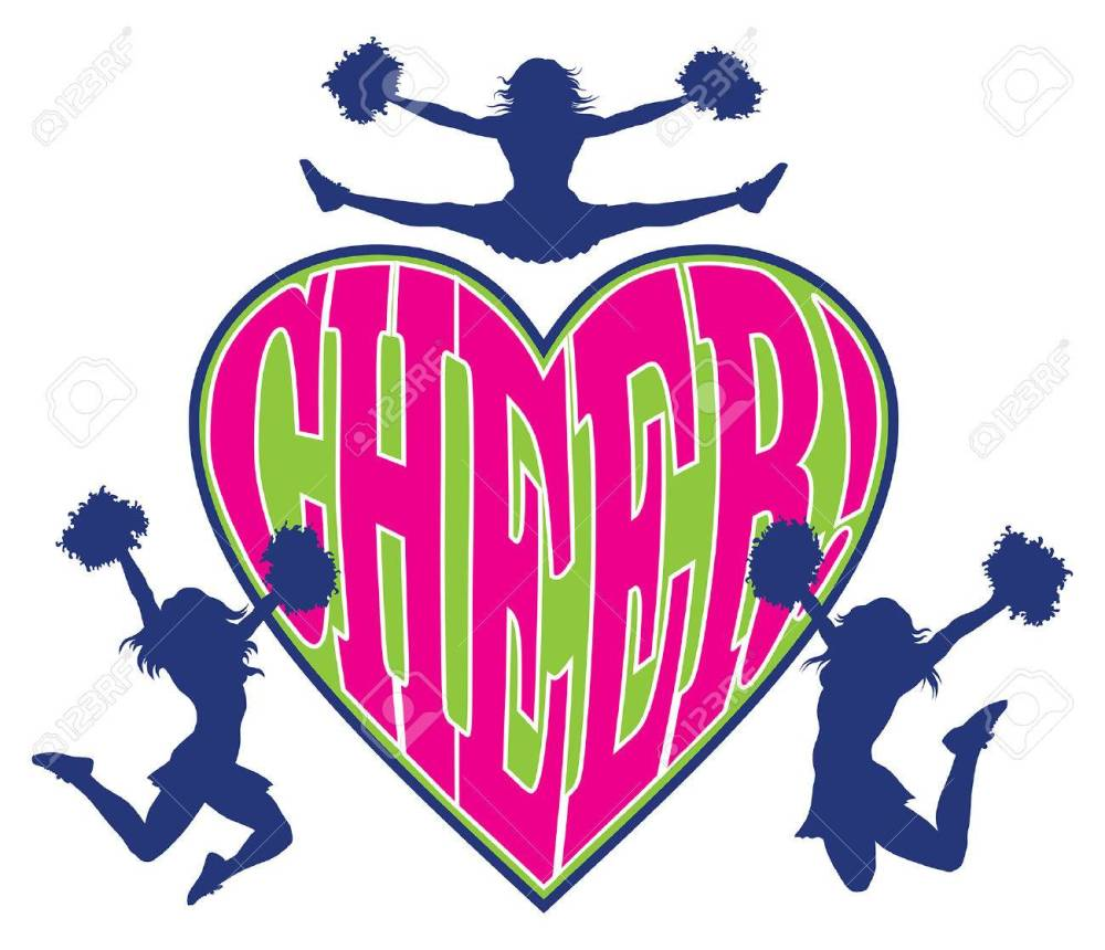 medium resolution of cheer heart is an illustration of a cheerleader design which includes three cheerleaders and the word