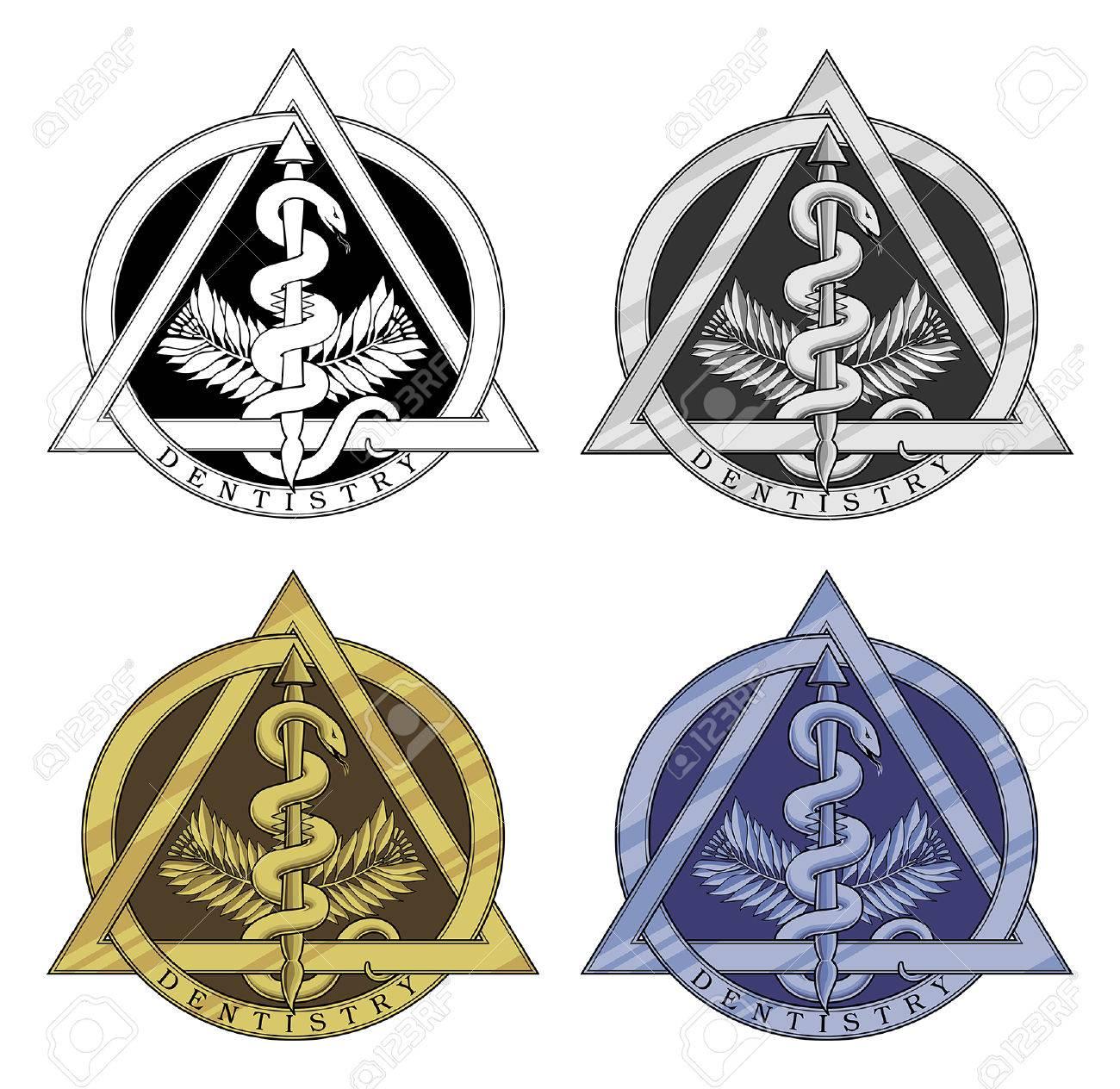dentistry symbol four versions