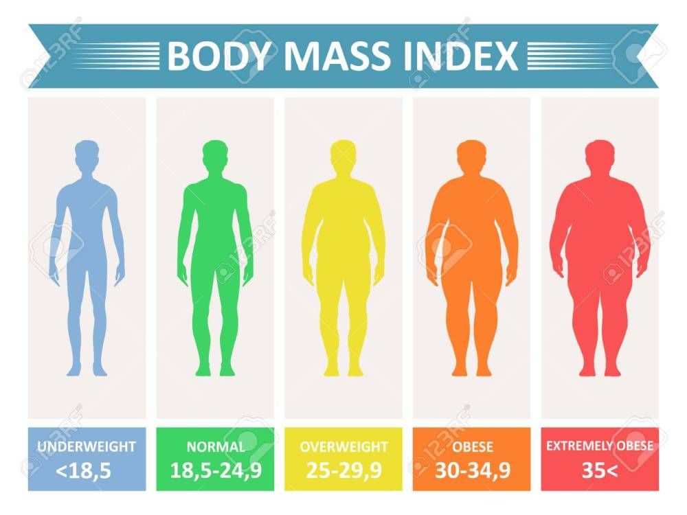 medium resolution of index mass body rating chart of body fat based on height and