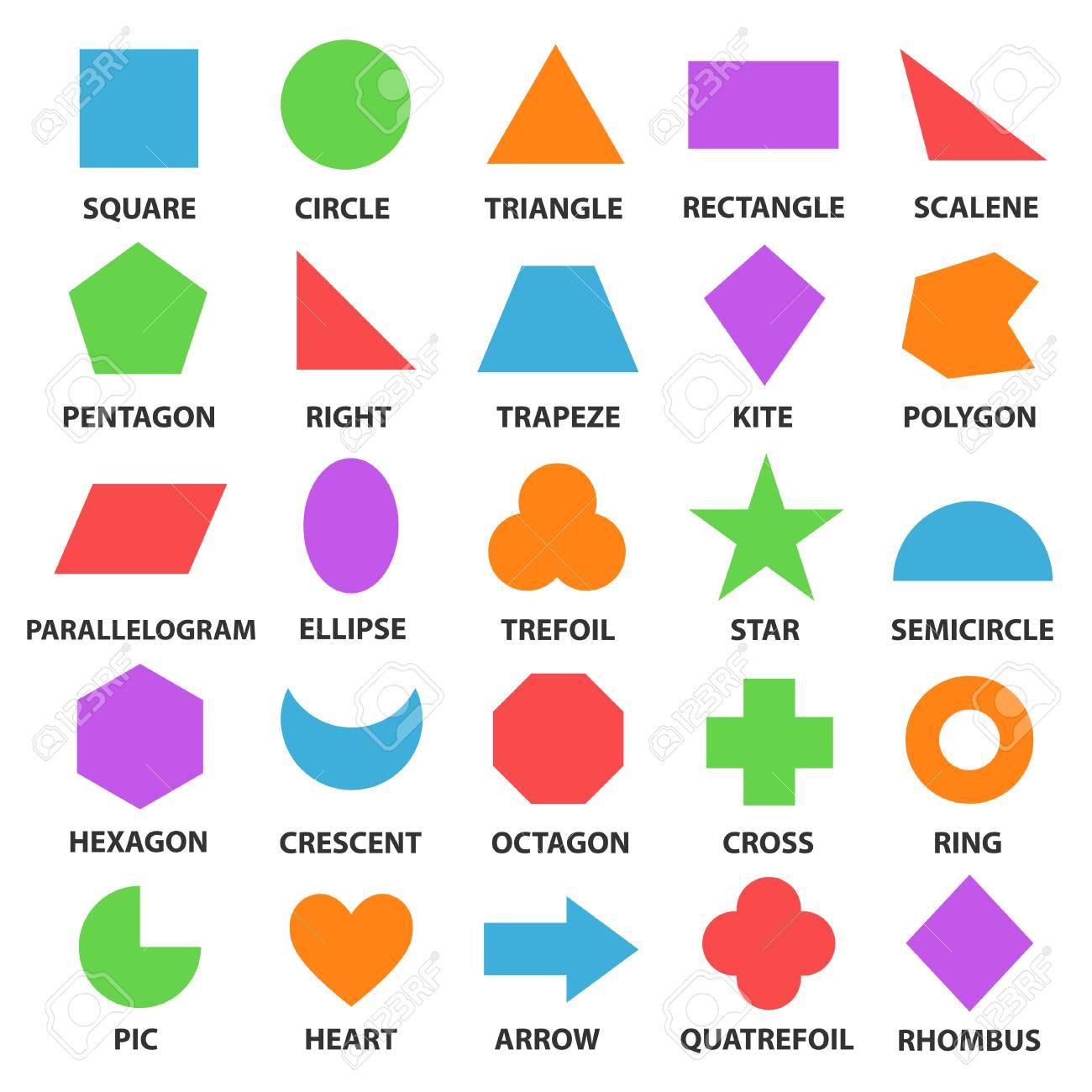 educational geometric shapes set