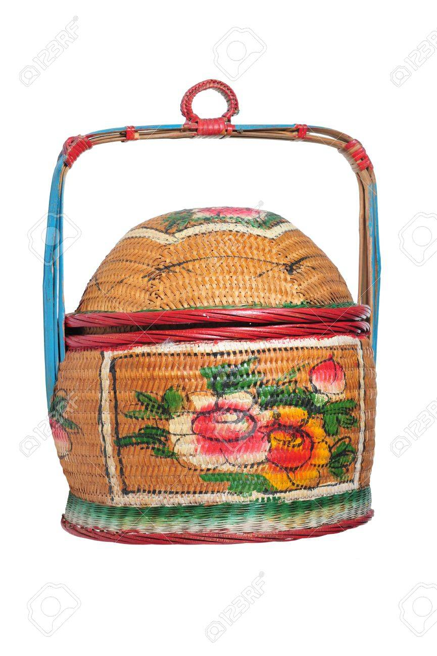 traditional decorated basket used