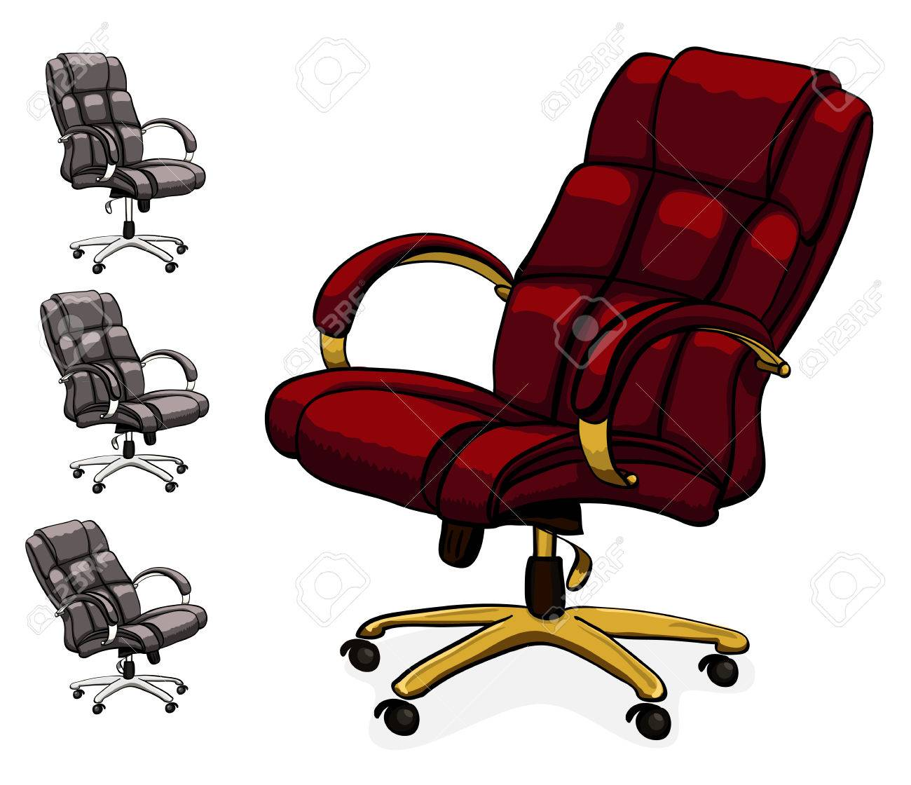office chair vector wheelchair with pot executive leather desk illustration isolated on white background stock 60726858