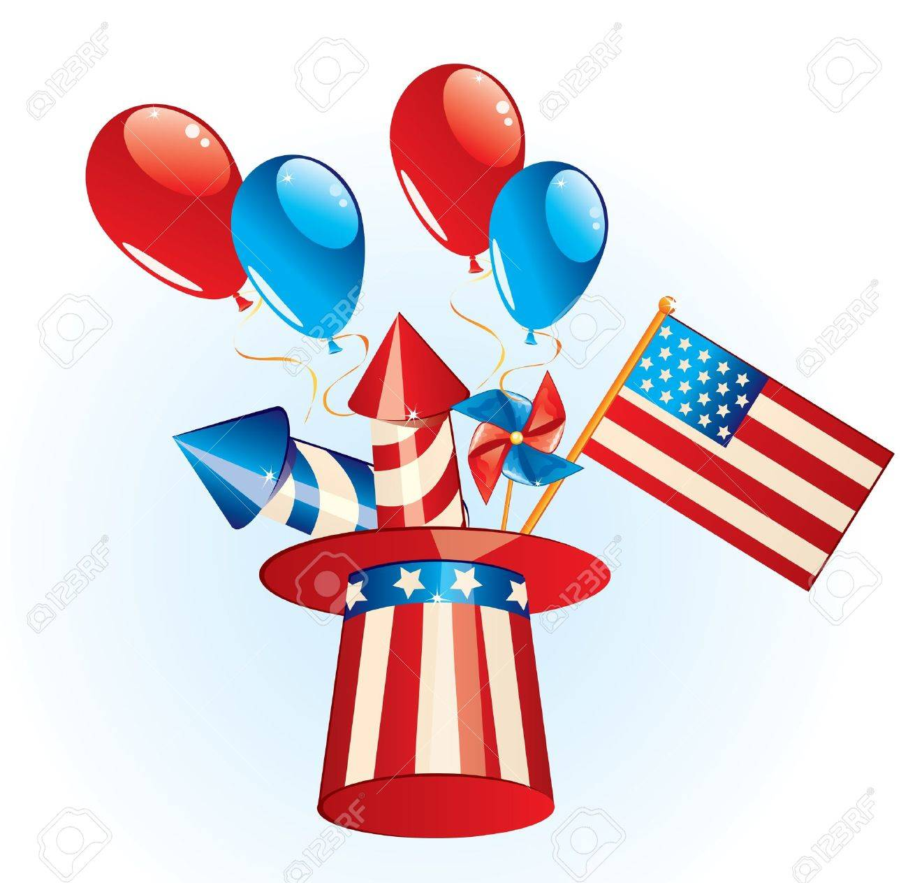 hight resolution of 4th july independence day stock vector 20146816