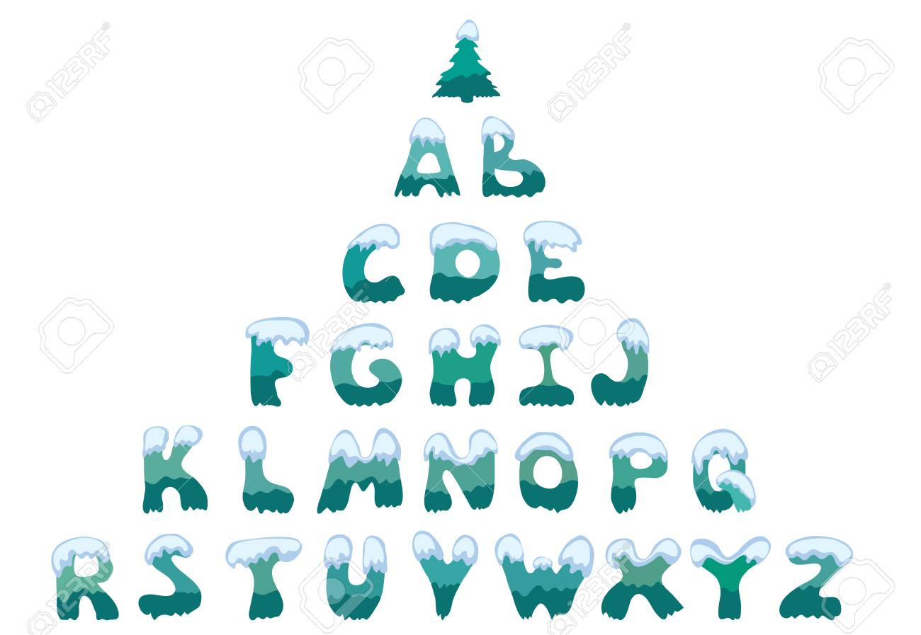 Snow Covered Letters