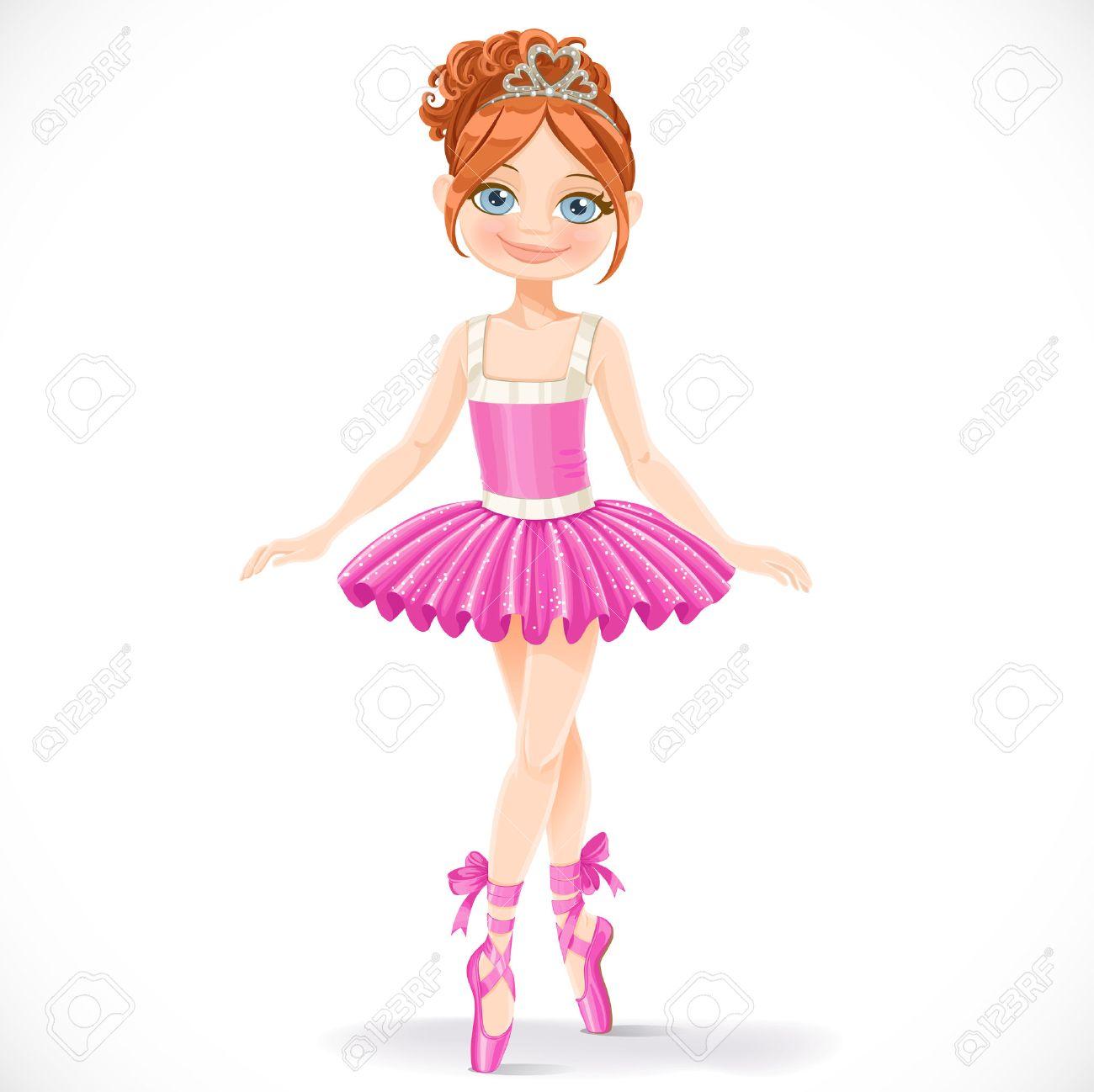 cute brunette ballerina girl
