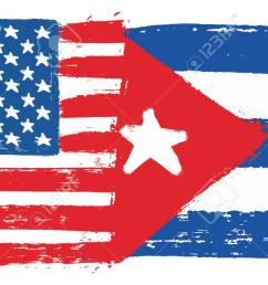 united states of america flag cuba flag vector hand painted with rounded brush stock vector [ 1300 x 670 Pixel ]