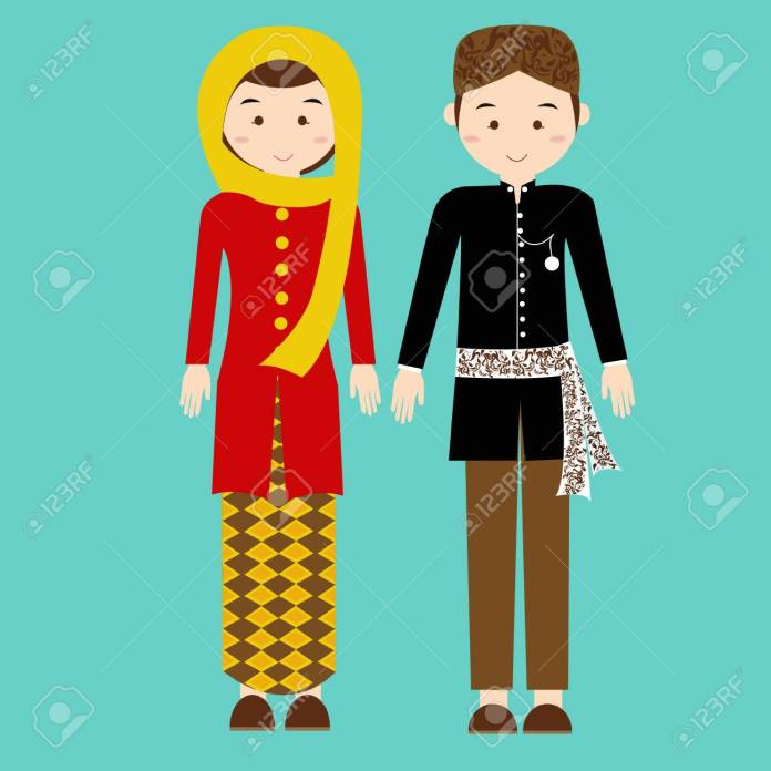 Traditional Clothes Betawi Jakarta Indonesia Ethnic Cloth Vector Royalty Free Cliparts Vectors And Stock Illustration Image 49817602