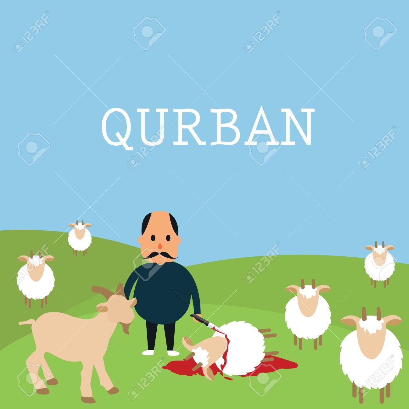 qurban sacrifice kill goat