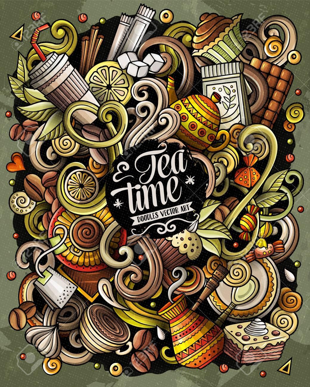 cafe hand drawn vector doodles illustration coffee poster design