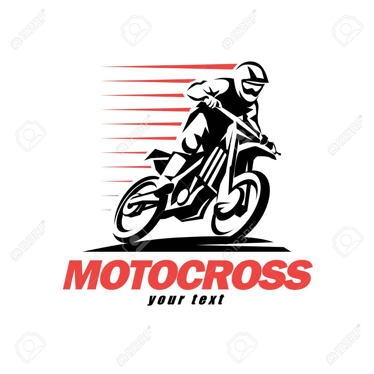 hight resolution of motocross stylized vector symbol design elements for logo template