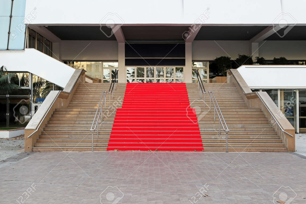 Roter Teppich Cannes Berühmte Roten Teppich Treppe Am Festspielhaus In Cannes