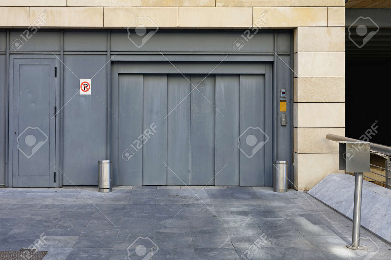 Elevator Lift Entrance To Underground Car Garage Stock Photo Picture And Royalty Free Image Image 100580378