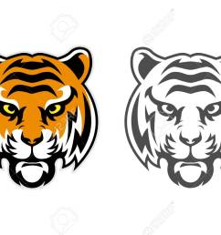 tiger head clipart mascot logo can be downloaded in vector format for unlimited image size and [ 1300 x 894 Pixel ]