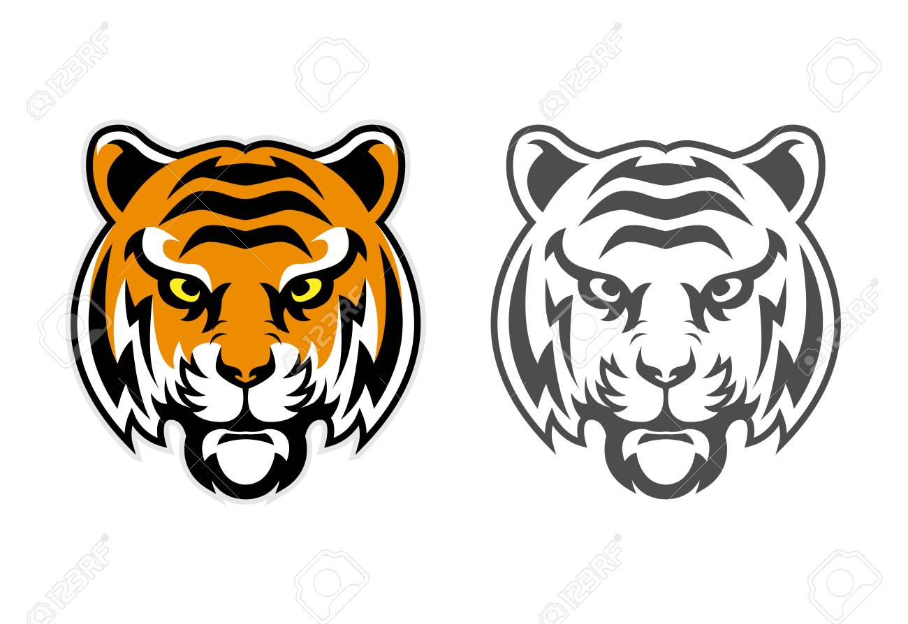 hight resolution of tiger head clipart mascot logo can be downloaded in vector format for unlimited image size and
