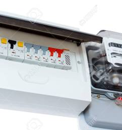 fuse box isolated on white electricity consumption stock photo 25324432 [ 1300 x 866 Pixel ]