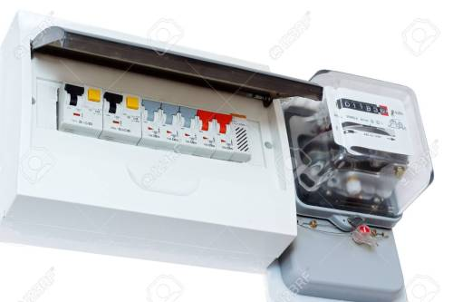 small resolution of fuse box isolated on white electricity consumption stock photo 25324432