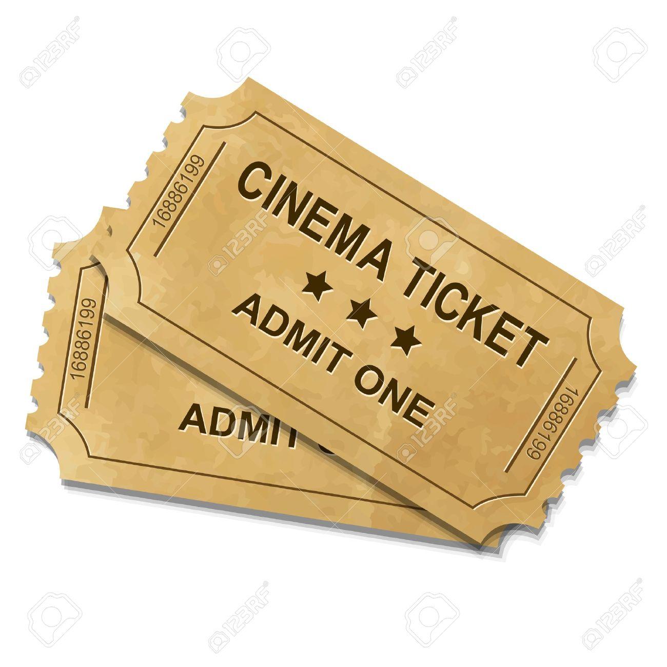 cinema ticket with gradient