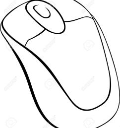 computer mouse on white background royalty free cliparts vectors computer mouse diagram [ 1135 x 1300 Pixel ]