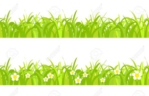 small resolution of seamless spring grass on a white background with flowers stock vector 41309200