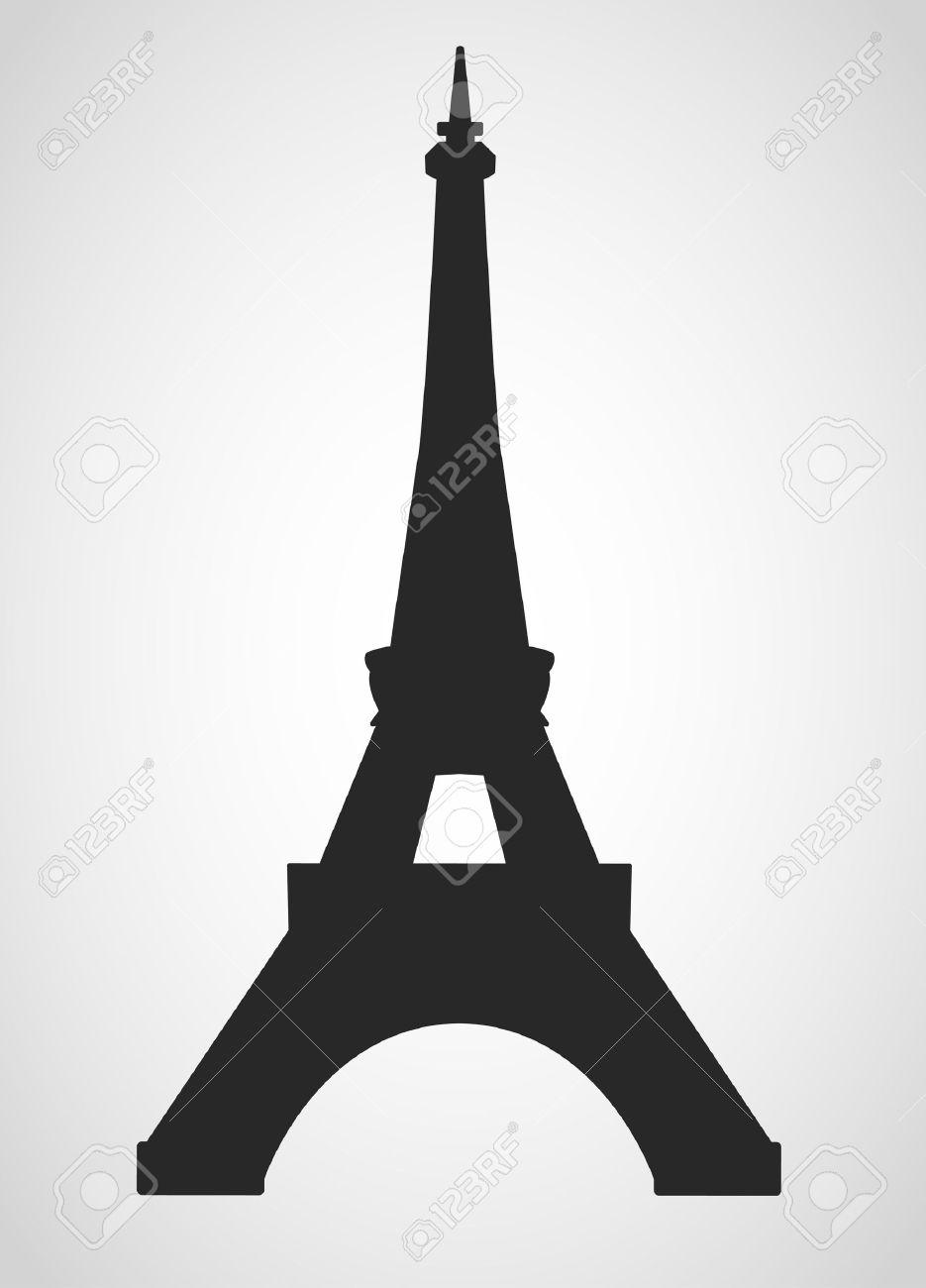 eiffel tower black on