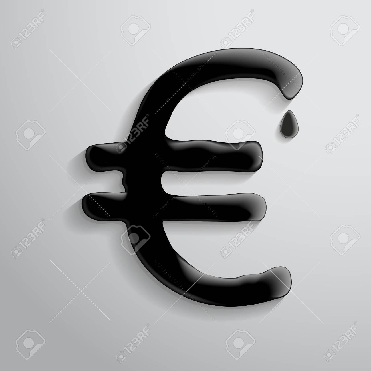 Das Symbol Der Euro Von Flüssiggas. Lizenzfrei Nutzbare