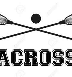 lacrosse sticks and ball flat and silhouette style sport equipment front view vector [ 1300 x 866 Pixel ]
