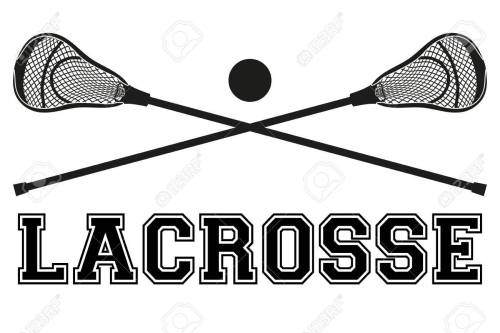 small resolution of lacrosse sticks and ball flat and silhouette style sport equipment front view vector