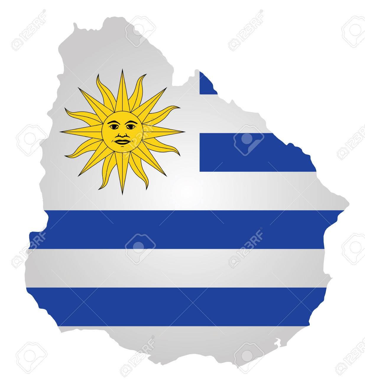 resultado de la imagen de bandera uruguaya mapa geografico