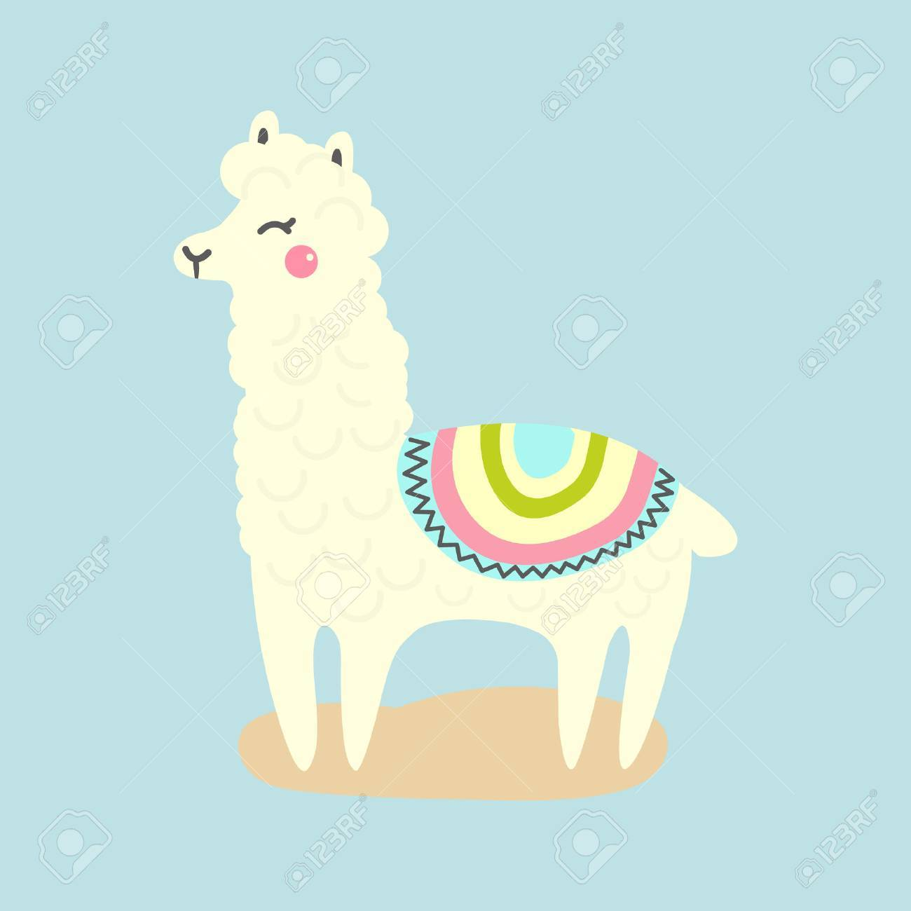 hight resolution of vector vector cute llama or alpaca illustration funny animal