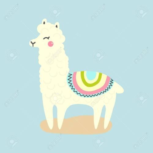 small resolution of vector vector cute llama or alpaca illustration funny animal