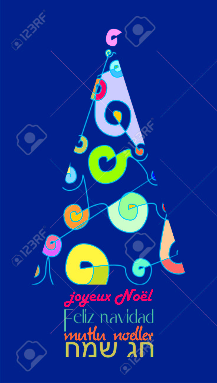 different and colorful christmas