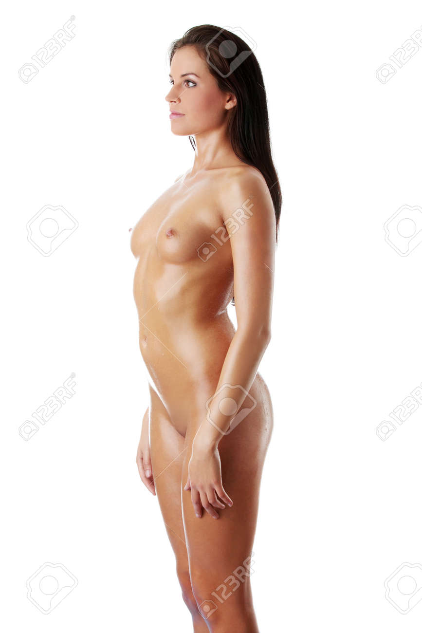 Naked Sexy Wet Woman Isolated On White Stock Photo 13187823