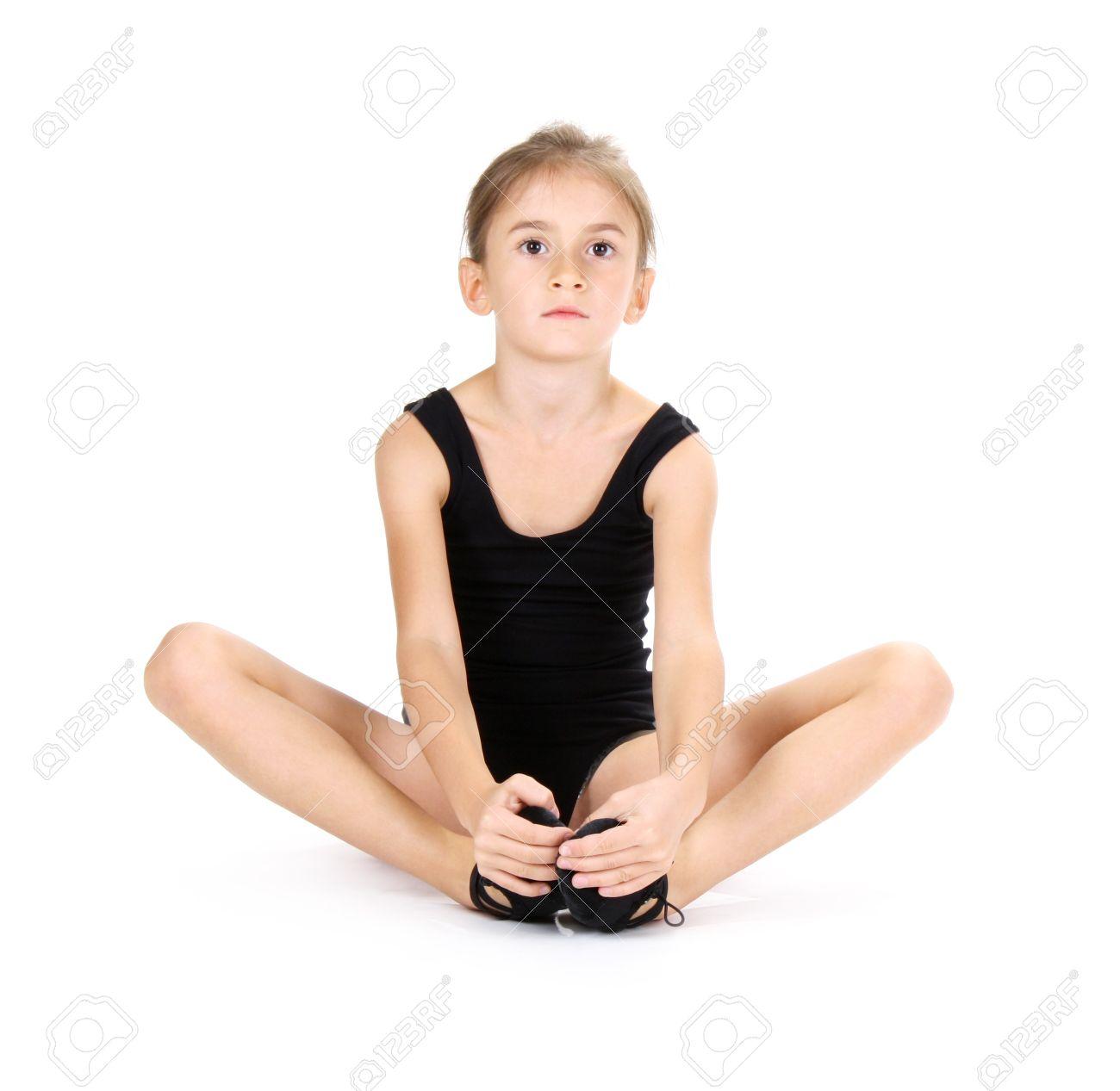 little girl ballerina isolated