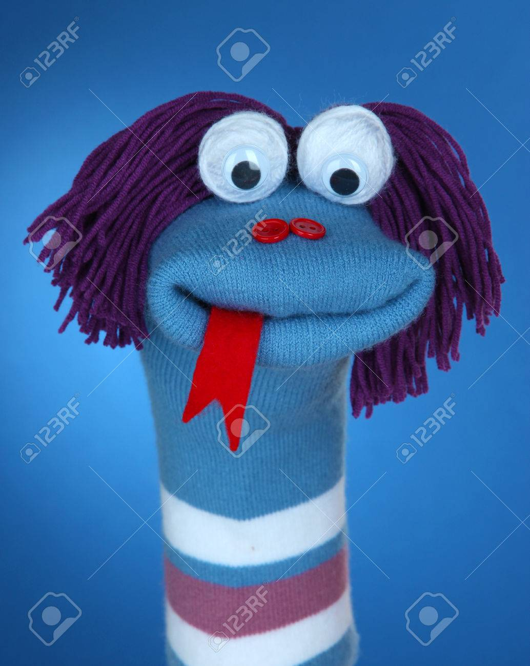 Blue Sock Puppet : puppet, Puppet, Background, Stock, Photo,, Picture, Royalty, Image., Image, 22789547.