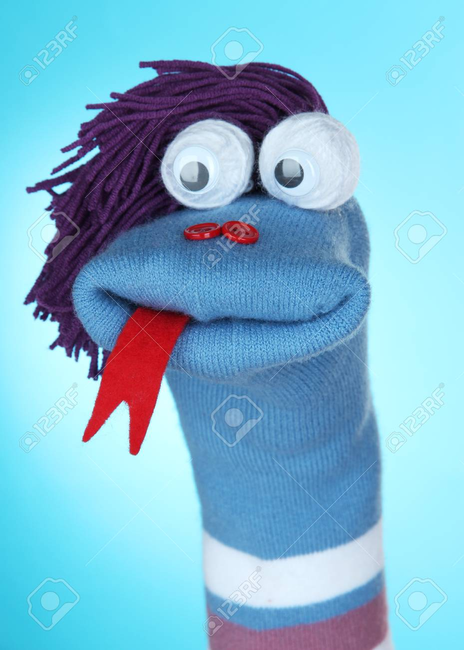 Blue Sock Puppet : puppet, Puppet, Stock, Photo,, Picture, Royalty, Image., Image, 23243448.
