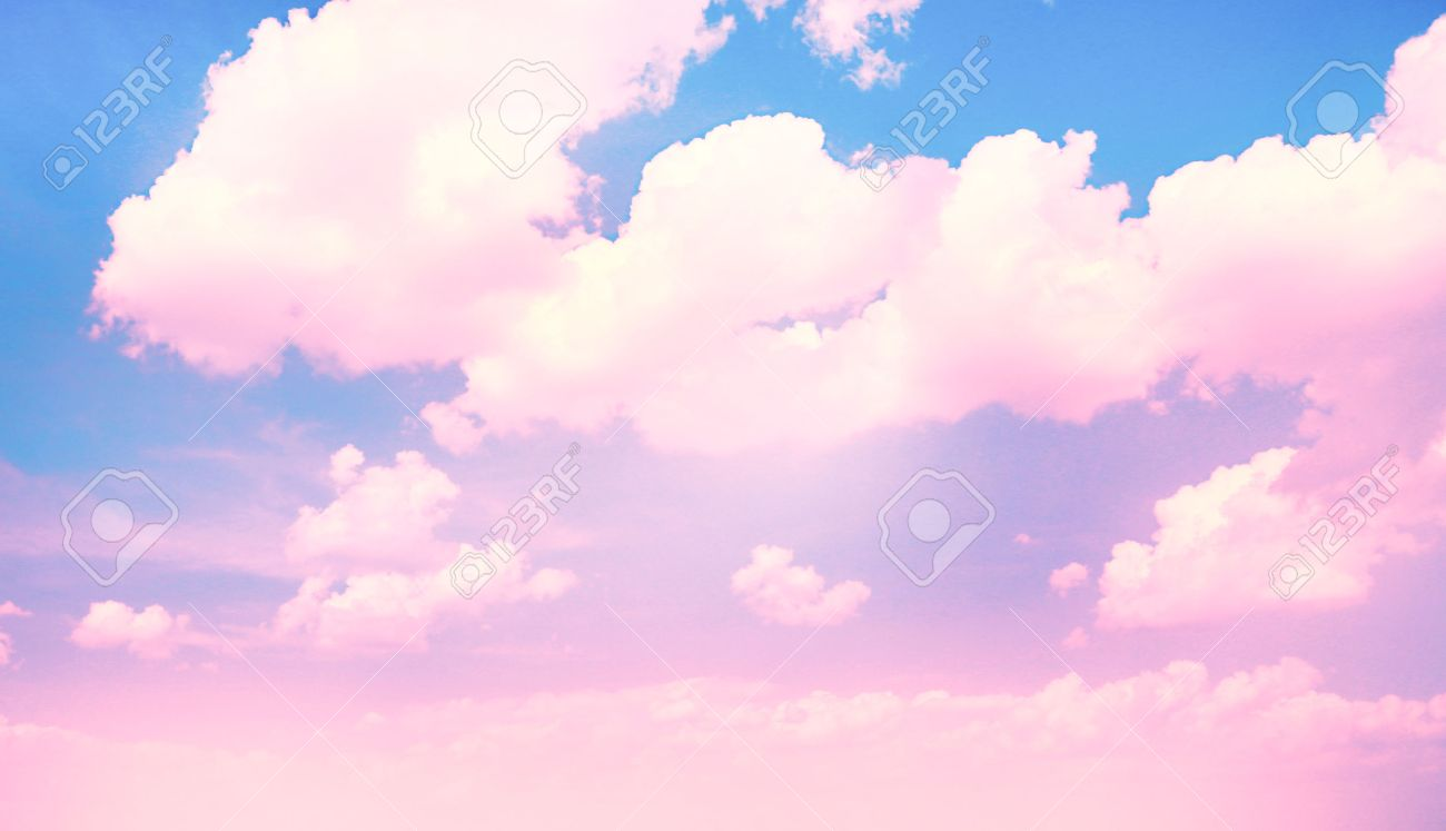 blue sky background with