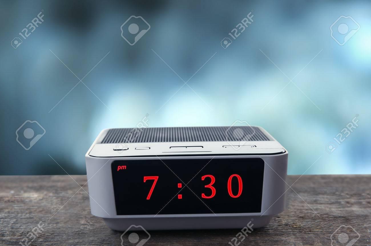 digital clock showing 7